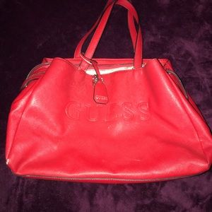 Red Guess Purse (price negotiable)